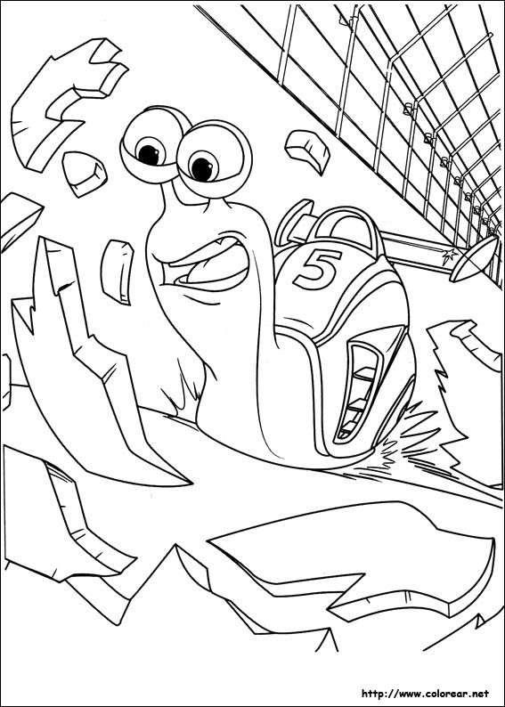 Turbo fast coloring coloring pages - Coloriage turbo escargot ...