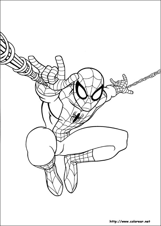 Dibujos de Ultimate SpiderMan para colorear en Colorearnet