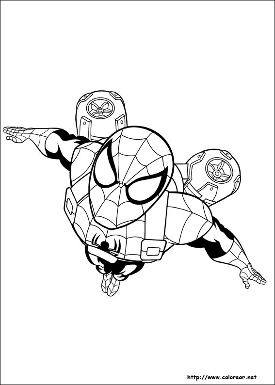 Dibujos para colorear de Ultimate SpiderMan