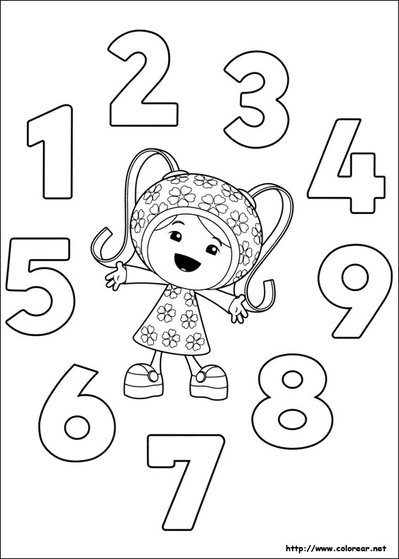 team umizoomi coloring pages print - photo#36