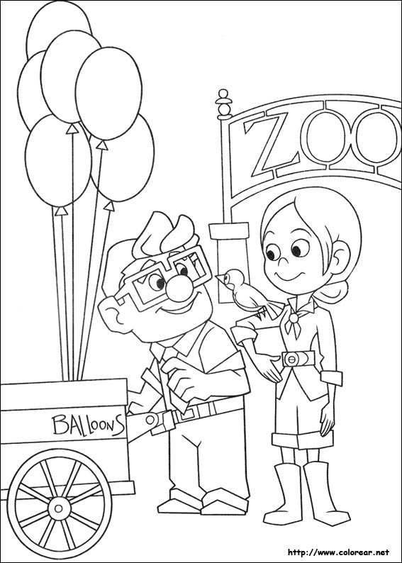 Pixar Up House Coloring Pages Dibujos para colorear ...