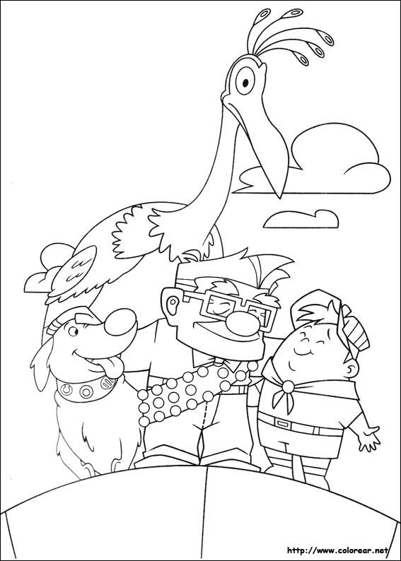 Dibujos Para Colorear De Up Una Aventura De Altura