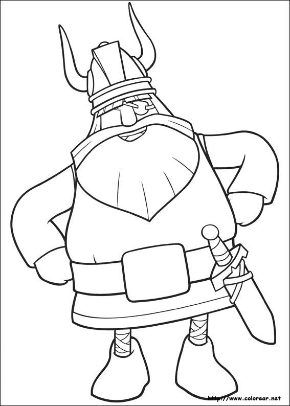 Dibujos de Vicky el Vikingo para colorear en Colorear.net