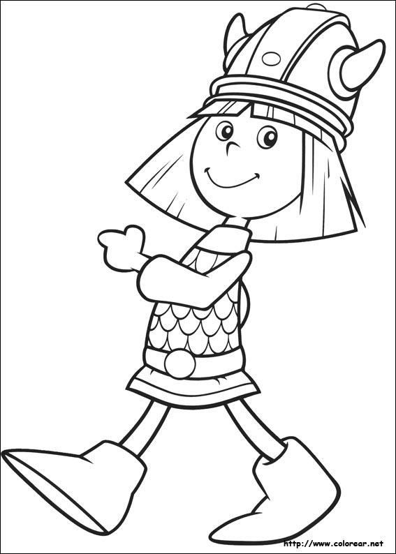 Dibujos para colorear de Vicky el Vikingo