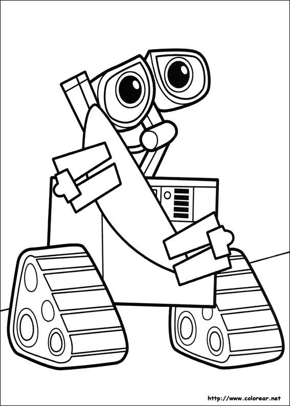 Dibujos para colorear de wall e for Robot coloring page