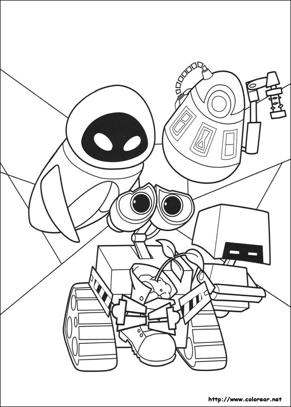 disney wall e coloring pages - photo#3