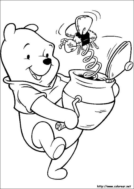 Dibujos de Winnie Pooh para colorear en Colorear.net