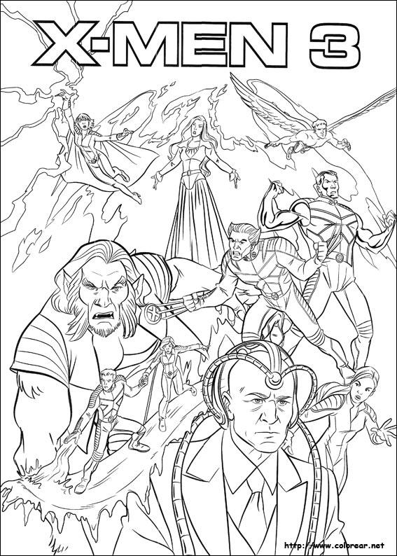 Dibujos Para Colorear De X Men
