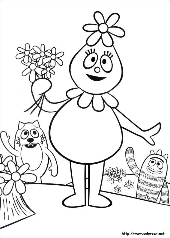Dibujos para colorear de yo gabba gabba for Yo gabba gabba coloring pages