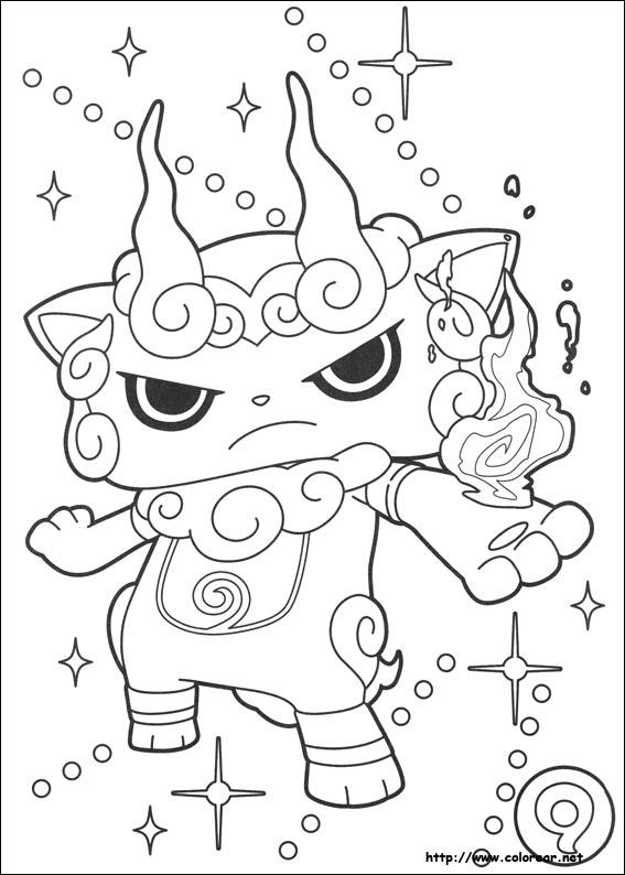 Dibujos Para Colorear Yokai