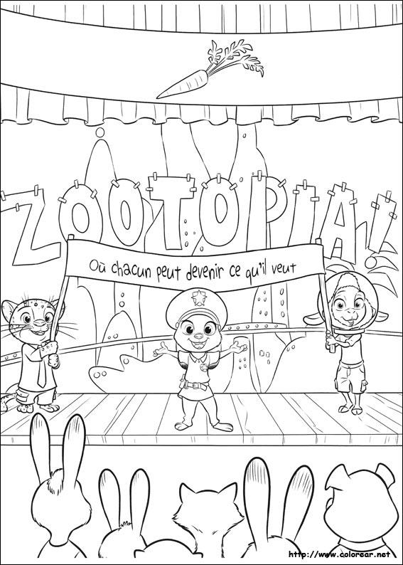 Dibujos para colorear de Zootropolis
