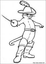 Dibujos De El Gato Con Botas Para Colorear En Colorearnet