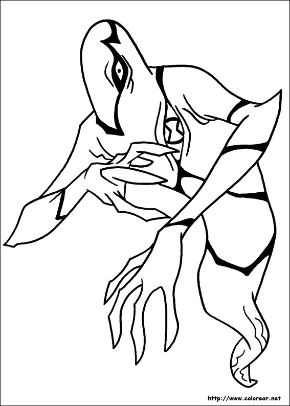 Ben 10 Rath Coloring Pages Coloring Pages