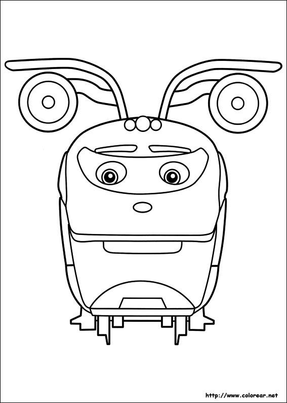 dibujos para colorear de chuggington