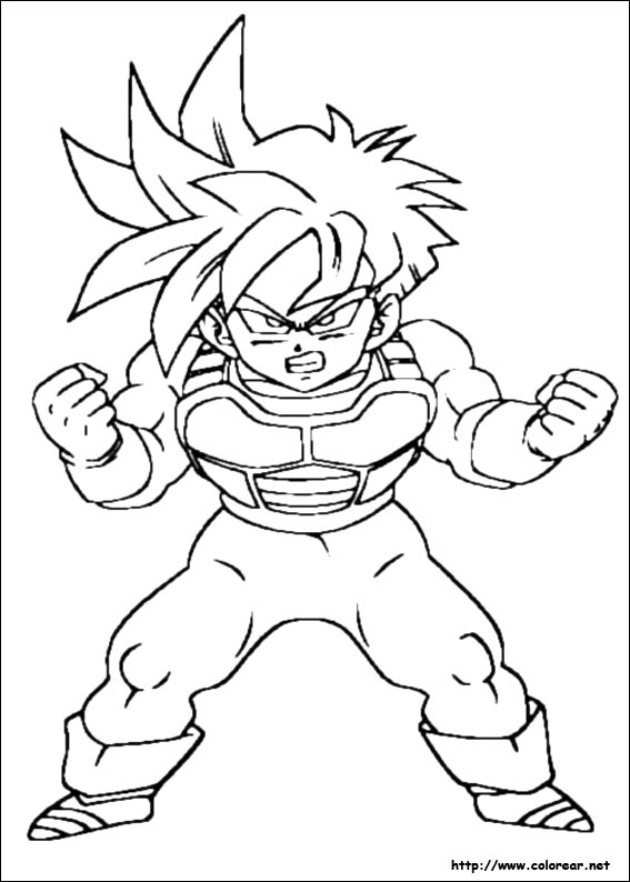 Dibujos Para Colorear De Dragon Ball Z