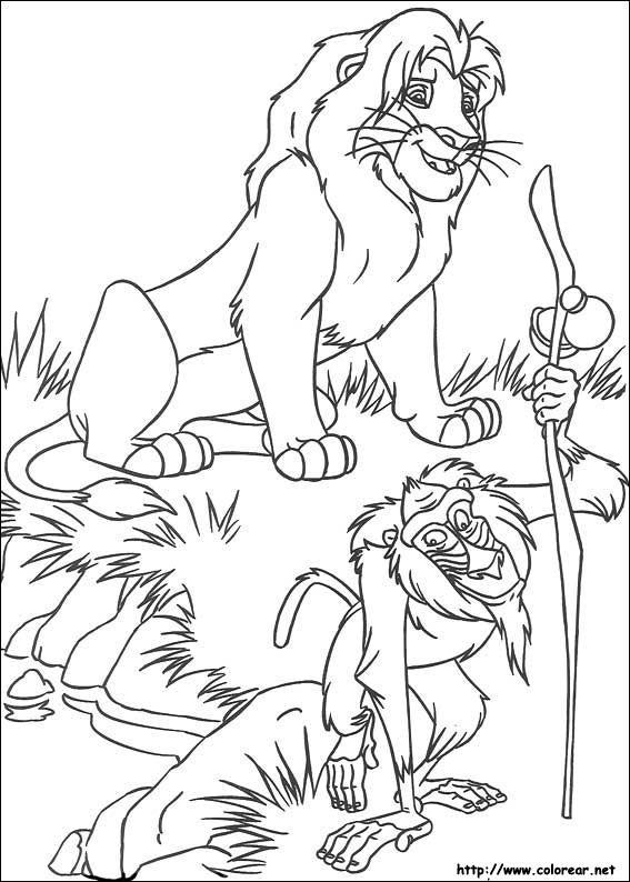 Dibujos Para Colorear De El Rey Leon