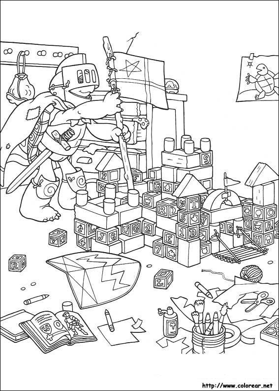 dibujos para colorear de franklin