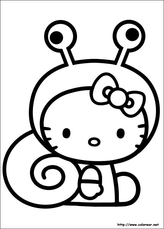 Dibujos Para Colorear De Hello Kitty