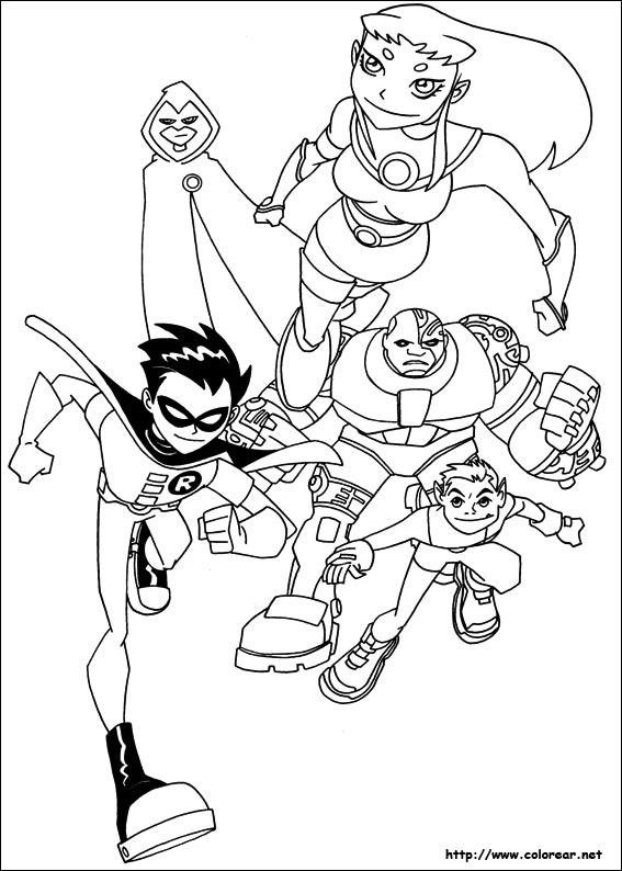Dibujos Para Colorear De Los Jóvenes Titanes