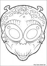 Dibujos De Mascaras De Halloween Para Colorear En Colorear Net