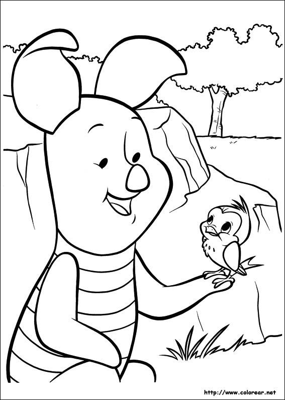 dibujos para colorear de piglet