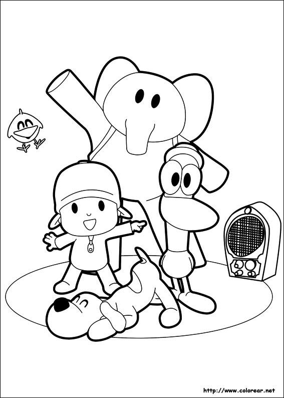 Dibujos Pocoyo para colorear e imprimir gratis - Imagui