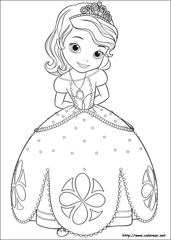 Dibujos Para Colorear De La Princesa Sofia