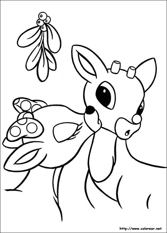 Dibujos Para Colorear De Rudolph El Reno De La Nariz Roja