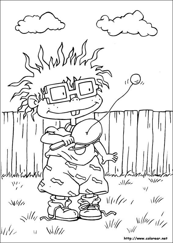 Dibujos Para Colorear De Rugrats Aventuras En Pañales