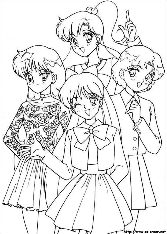 Dibujos Para Colorear De Sailor Moon
