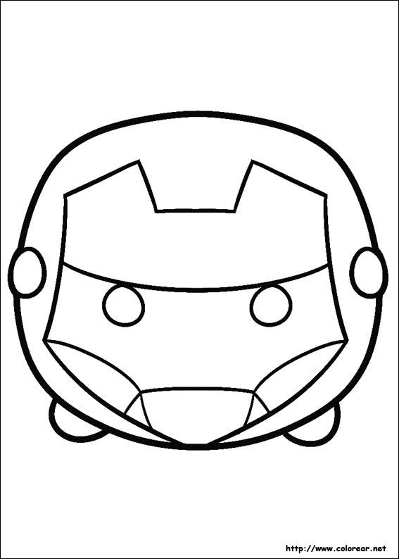 Dibujos para colorear de Tsum Tsum