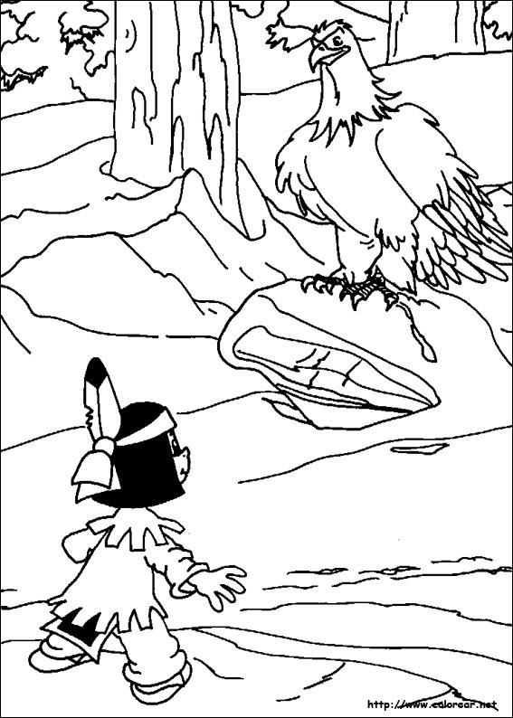 dibujos para colorear de yakari